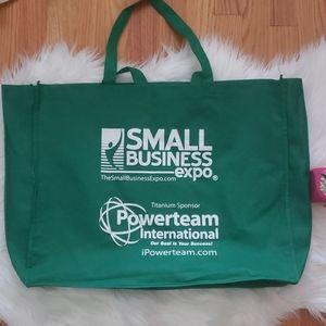 Handbags - Small Business Expo Large Green Reusable Tote Bag